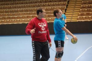 trenér Jiří Tkadlec s Kateřinou Keclíkovou